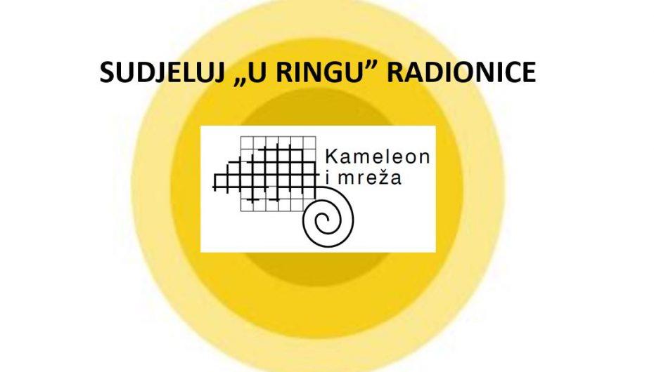 """SUDJELUJ """"U RINGU"""" RADIONICE UDRUGE KAMELEON I MREŽA"""