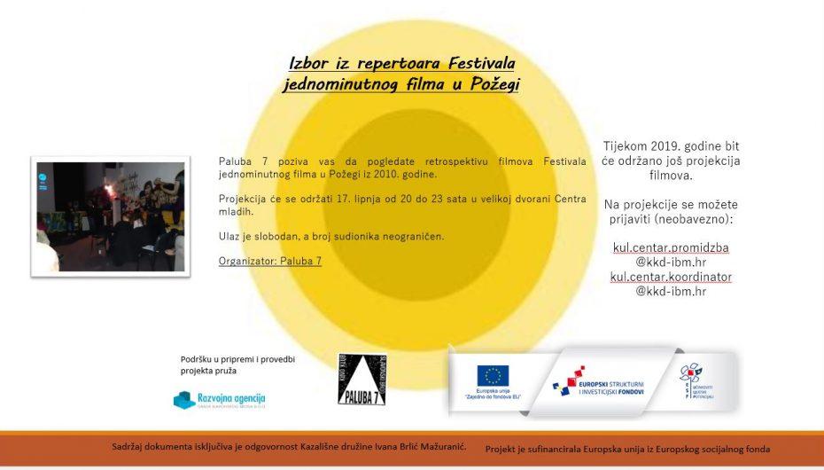 Retrospektiva Festivala jednominutnog filma u Požegi Paluba 7