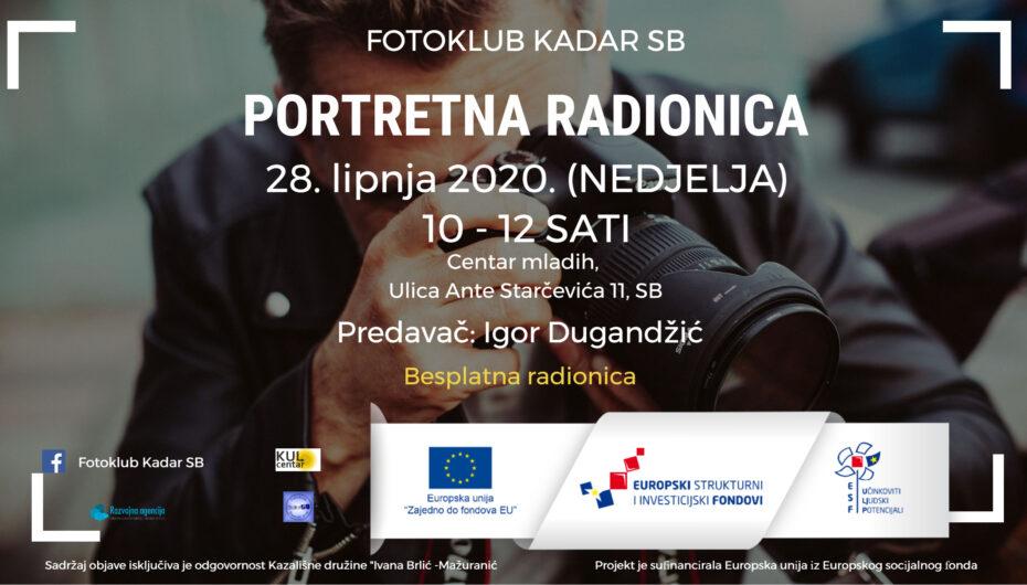 Fotoklub Kadar SB – Portretna radionica