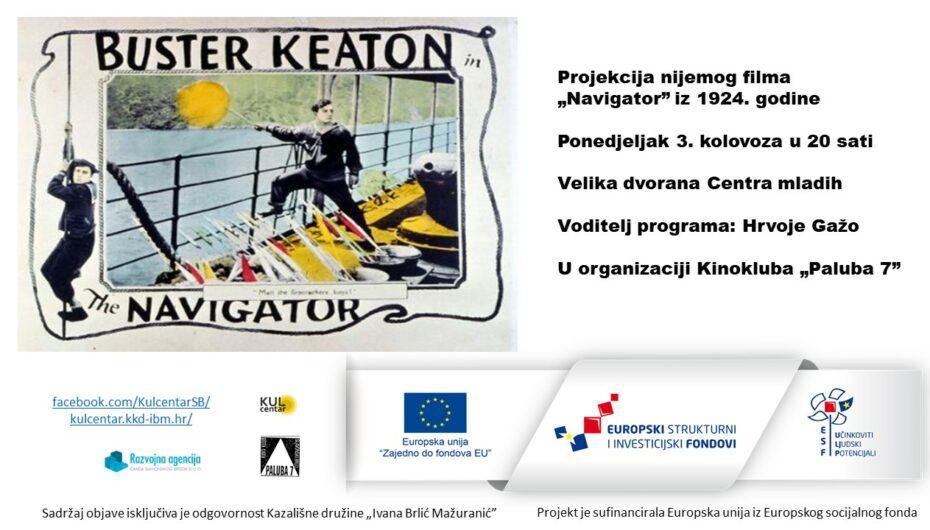 """Ljeto na Palubi 7 – projekcija nijemog filma """"Navigator"""" (1924.)"""